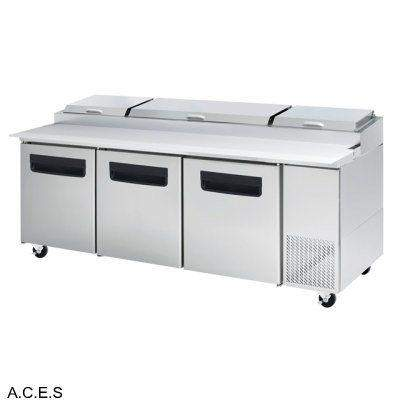 GREENLINE PIZZA PREPARATION REFRIGERATION 3 Door