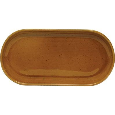 tablekraft ARTISTICA OVAL PLATE, COUPE 300x140mm HAZELNUT