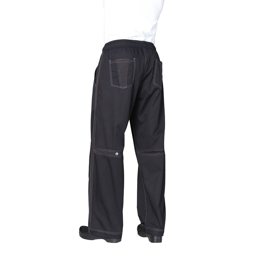 Black Cool Vent Baggy Pants