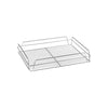 "CHROME -GLASS BASKET-RECT., 435x355x75mm (17x14"")"