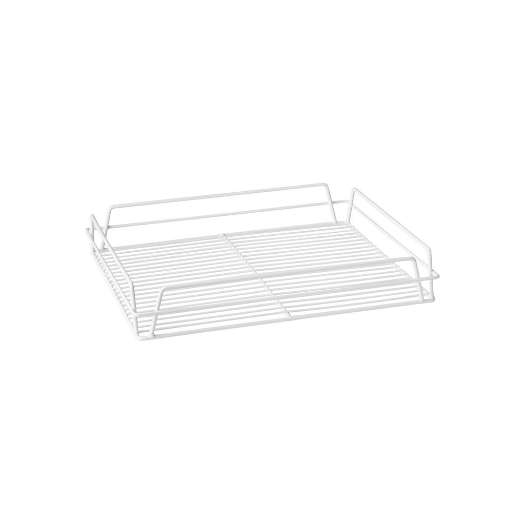 "WHITE PVC-GLASS BASKET-RECT., 435x355x75mm (17x14"")"