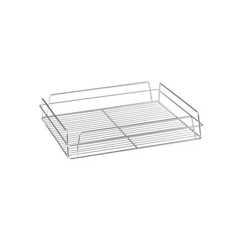 "ZINC -GLASS BASKET-RECT., 435x355x75mm (17x14"")"