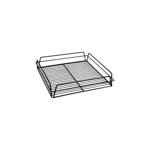 "BLACK PVC -GLASS BASKET-SQUARE, 335x355x75mm (14x14"")"