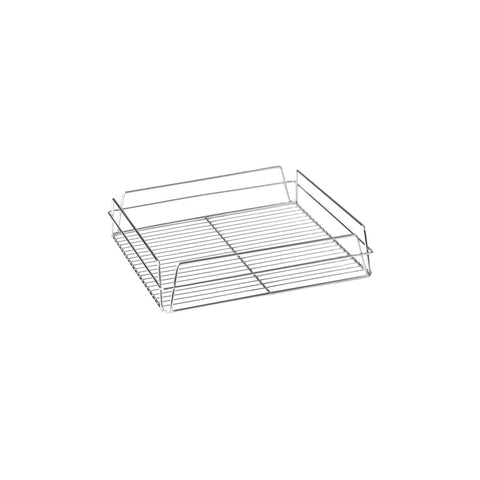 "CHROME -GLASS BASKET-SQUARE, 335x355x75mm (14x14"")"