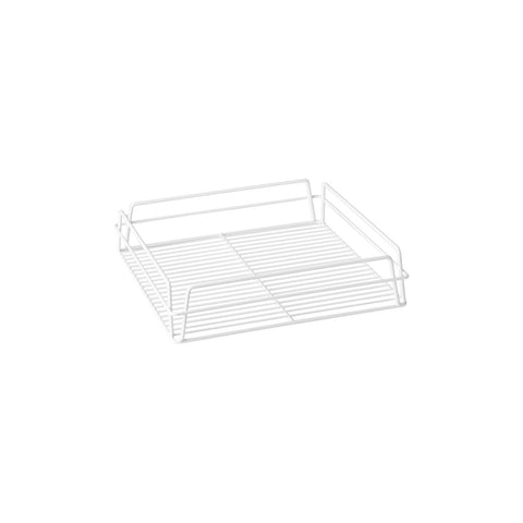 "WHITE PVC-GLASS BASKET-SQUARE, 335x355x75mm (14x14"")"