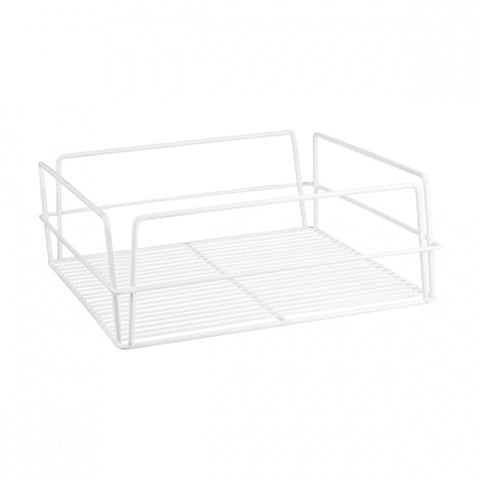 "WHITE PVC-GLASS BASKET-RECT., 435x355x125mm (17x14"")"