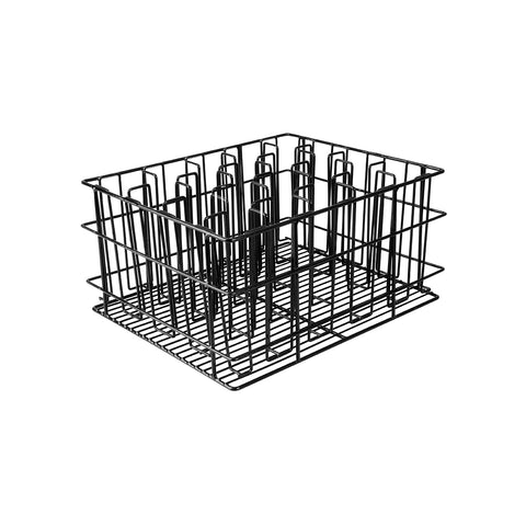 BLACK PVC -20 COMP. GLASS BASKET-430x355x215mm