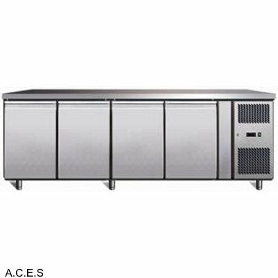 GREENLINE Bench Refrigeration 700 Deep (4 Solid Doors)