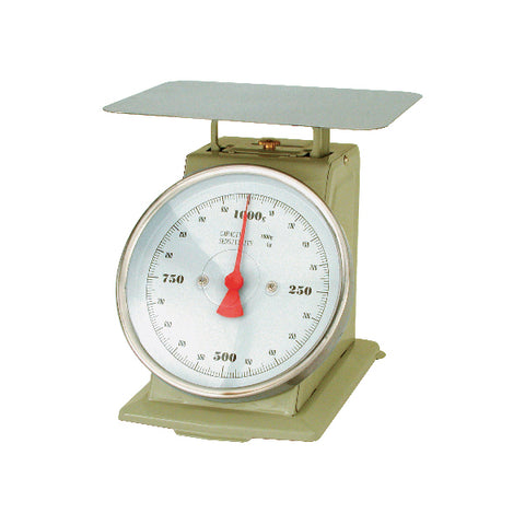 3kg x 10g-PORTION SCALE-ENAMEL BODY, W/PLATFORM