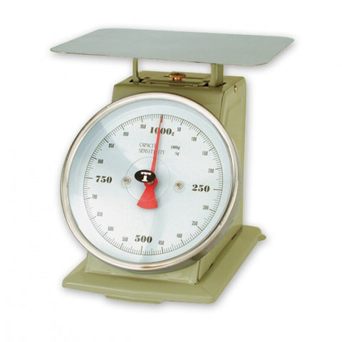 1kg x 5g-PORTION SCALE-ENAMEL BODY, W/PLATFORM