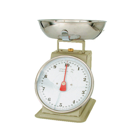 5kg x 20g-KITCHEN SCALE-ENAMEL BODY, W/BOWL