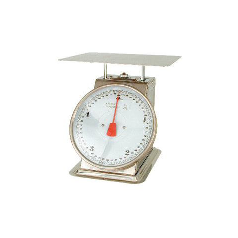 5kg x 20g-KITCHEN SCALE-18/8 BODY, W/PLATFORM