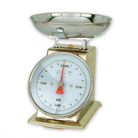 1kg x 5g-PORTION SCALE-18/8 BODY, W/BOWL