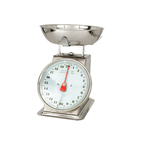 10kg x 50g-KITCHEN SCALE-18/8 BODY, W/BOWL