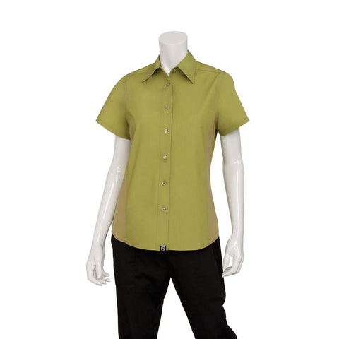 Men's Lime Universal Contrast Cook Shirt