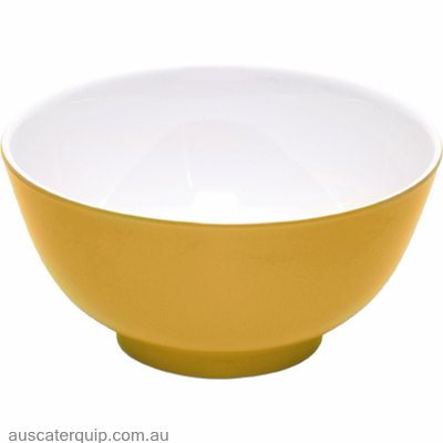 JAB GELATO-YELLOW/WHITE ROUND CEREAL BOWL 150mm (STS0780) X6