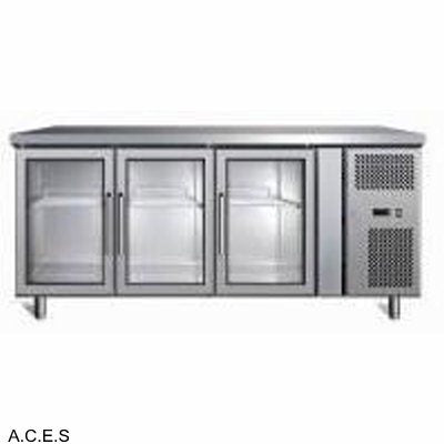 GREENLINE Bar Refrigeration 600 Deep (3 Heated Glass Doors)