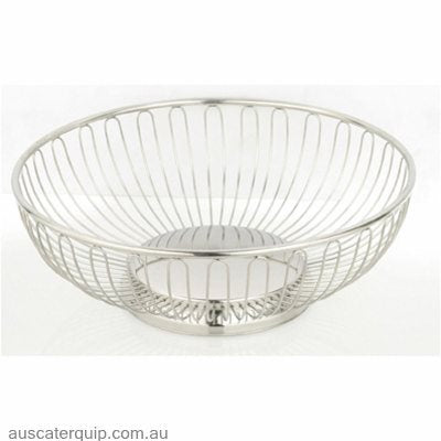 ROUND BASKET 245x80mm WIRE 18/10 SOLID BASE