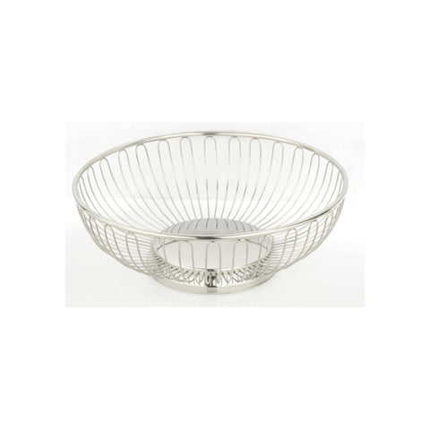 ROUND BASKET 175x60mm WIRE 18/10 SOLID BASE