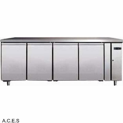 GREENLINE Remote Bench Refrigeration (4 Solid Doors 553L)