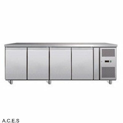 GREENLINE Bench Refrigeration 600 Deep (4 Solid Doors)