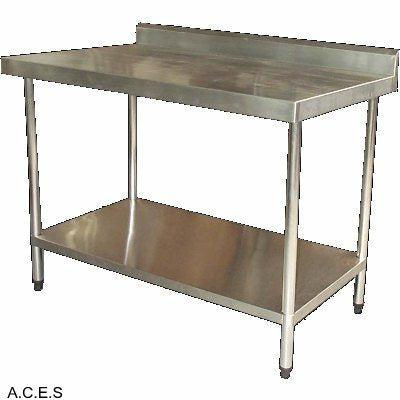 JEMI S/S WORK BENCHES WITH SPLASH BACK 450mm wide