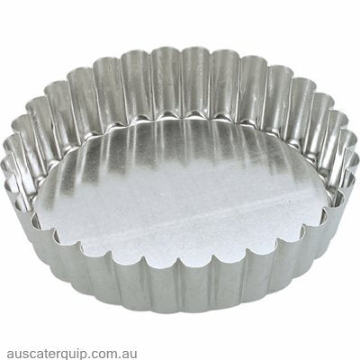 Guery CAKE PAN-ROUND FLUTED 100x30mm LOOSE BASE