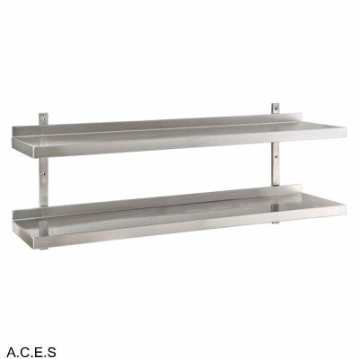 JEMI Double Tier Solid Wall Shelf - 1.0mm 900mm wide