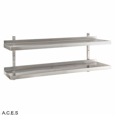JEMI Double Tier Solid Wall Shelf - 1.0mm 600mm wide
