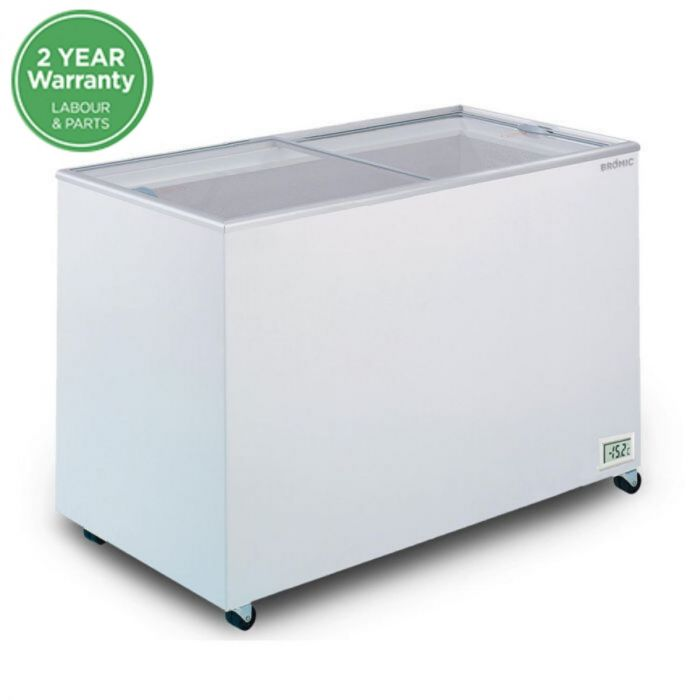 BROMIC Flat Glass Chest Freezer - 401L