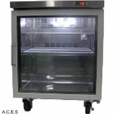 GREENLINE COMPACT BENCH REFRIGERATION GLASS DOORS 700mm wide