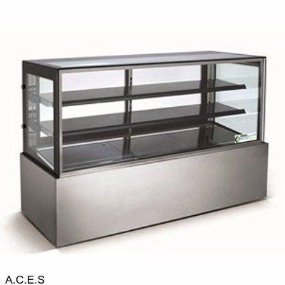 GREENLINE REFRIGERATED 3 Tier SQUARE GLASS DISPLAY 1500mm wide