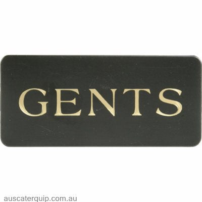 "WALL SIGN: ""Gents"" WHITE ON BLACK"