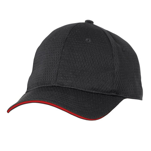 Red Cool Vent Baseball Cap w/ Trim