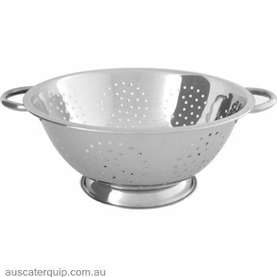COLANDER-S/S 375x165mm13.0lt 4mm HOLES WIRE HDL