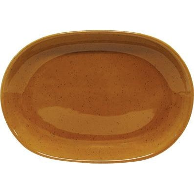 tablekraft ARTISTICA OVAL SERVING PLATTER-305x210mm HAZELNUT