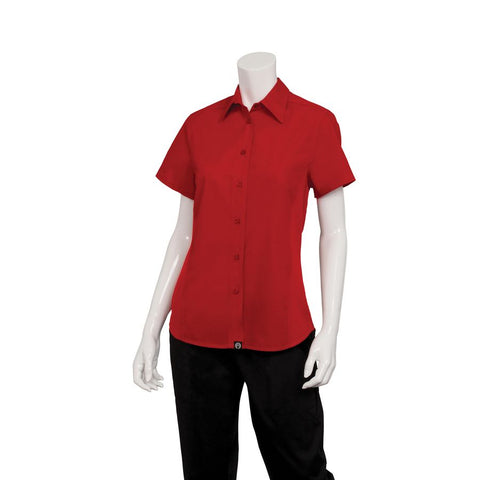 Female Red Universal Contrast Shirt