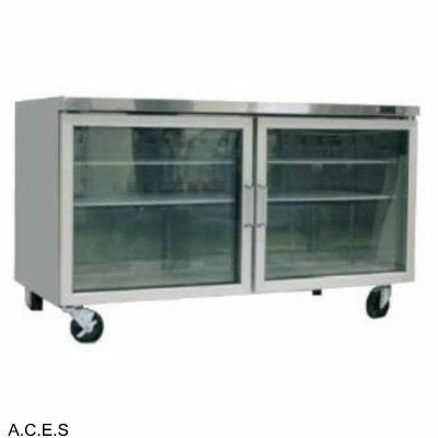 GREENLINE COMPACT BENCH REFRIGERATION GLASS DOORS 1220mm wide