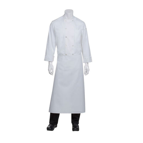 White Long Four-Way Apron