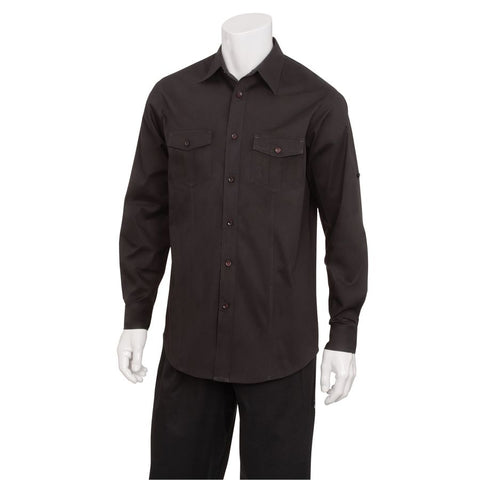 Men's Black Two Pocket Shirt