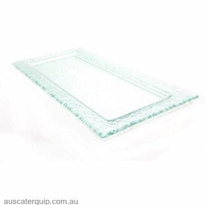 Han RECTANGLE PLATTER TO FIT DP-005 STAND 630x200mm CLEAR
