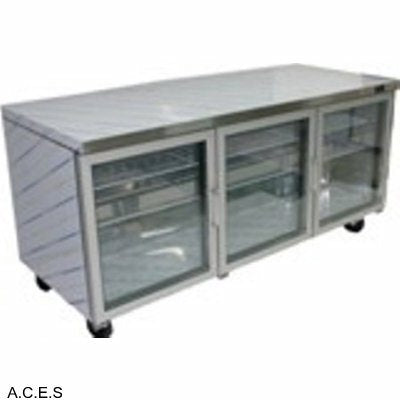 GREENLINE COMPACT BENCH REFRIGERATION GLASS DOORS 1828mm wide