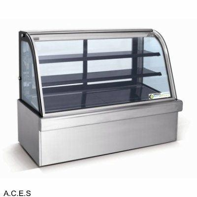 GREENLINE REFRIGERATED 3 Tier CURVED GLASS FOOD DISPLAY  1800mm