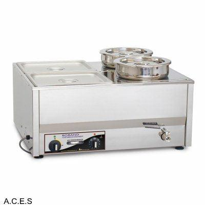 ROBAND 4 PANS COUNTER TOP BAIN MARIE- WET ONLY