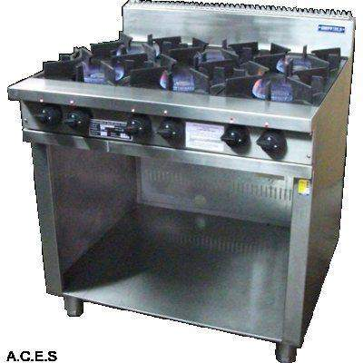 SHEFFIELD 6 BURNER BOILING TABLE