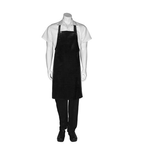 Black Long PVC Bib Apron