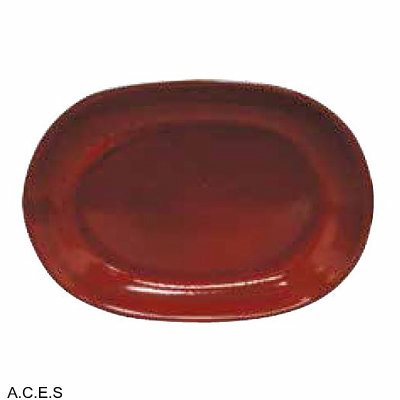 tablekraft ARTISTICA OVAL SERVING PLATTER-305x210mm REACTIVE RED