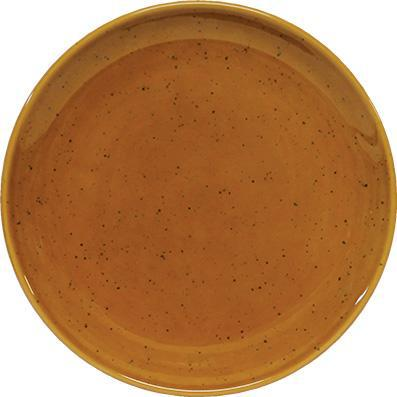 tablekraft ARTISTICA ROUND PLATE-190mm Rolled Edge HAZELNUT