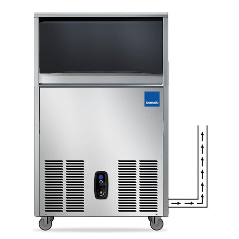 ICEMATIC Under Counter Self Contained Ice Machine With In-built Water Drain Pump CS50-A-DP