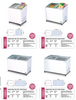 BROMIC Curved Angled Glass Chest Freezers